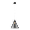 This item: X-Large Cone Matte Black One-Light Hang Straight Swivel Pendant