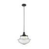 This item: Franklin Restoration Matte Black 12-Inch One-Light Pendant with Seedy Large Oxford Shade