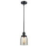 This item: Franklin Restoration Matte Black Five-Inch LED Mini Pendant with Silver Plated Mercury Glass Shade