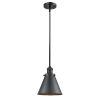 This item: Franklin Restoration Matte Black Eight-Inch LED Mini Pendant with Appalachian Matte Black Metal Shade