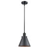 This item: Franklin Restoration Matte Black Eight-Inch One-Light Mini Pendant with Appalachian Matte Black Metal Shade