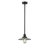 This item: Halophane Oiled Rubbed Bronze Eight-Inch LED Mini Pendant with Halophane Cone Glass