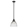 This item: Seneca Falls Oiled Rubbed Bronze One-Light Mini Pendant with Halophane Dome Glass