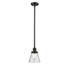 This item: Small Cone Oiled Rubbed Bronze Eight-Inch One-Light Mini Pendant with Seedy Cone Glass