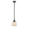 This item: Large Bell Oiled Rubbed Bronze 10-Inch One-Light Mini Pendant with Matte White Cased Dome Glass