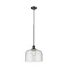 This item: X-Large Bell Oil Rubbed Bronze LED Hang Straight Swivel Pendant with Seedy Glass