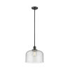 This item: X-Large Bell Oil Rubbed Bronze One-Light Hang Straight Swivel Pendant with Seedy Glass