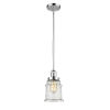 This item: Canton Polished Chrome LED Hang Straight Swivel Mini Pendant with Seedy Glass