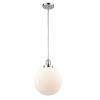 This item: Franklin Restoration Polished Chrome 10-Inch LED Pendant with Matte White Glass Shade