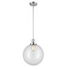 This item: Franklin Restoration Polished Chrome 12-Inch One-Light Pendant with Clear Glass Shade