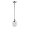 This item: Franklin Restoration Polished Chrome Six-Inch One-Light Mini Pendant with Clear Glass Shade