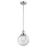 This item: Franklin Restoration Polished Chrome Eight-Inch One-Light Mini Pendant with Seedy Glass Shade