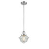This item: Small Oxford Polished Chrome LED Hang Straight Swivel Mini Pendant with Seedy Glass