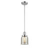 This item: Small Bell Polished Chrome One-Light Hang Straight Swivel Mini Pendant with Silver Plated Mercury Glass