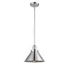 This item: Briarcliff Polished Chrome One-Light Hang Straight Swivel Pendant