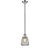 This item: Chatham Polished Nickel Eight-Inch One-Light Mini Pendant with Clear Fluted Novelty Glass