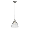 This item: Seneca Falls Polished Nickel One-Light Mini Pendant with Halophane Dome Glass