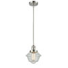 This item: Small Oxford Polished Nickel LED Hang Straight Swivel Mini Pendant with Seedy Glass