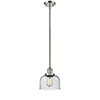 This item: Large Bell Polished Nickel 10-Inch One-Light Mini Pendant with Seedy Dome Glass