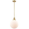 This item: Franklin Restoration Satin Gold 10-Inch LED Pendant with Matte White Glass Shade