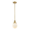 This item: Franklin Restoration Satin Gold Six-Inch LED Mini Pendant with Matte White Glass Shade