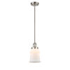 This item: Canton Brushed Satin Nickel LED Hang Straight Swivel Mini Pendant with Matte White Glass