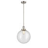 This item: Franklin Restoration Brushed Satin Nickel 12-Inch One-Light Pendant with Seedy Beacon Shade