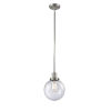This item: Franklin Restoration Brushed Satin Nickel Eight-Inch One-Light Mini Pendant with Seedy Glass Shade
