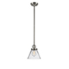 This item: Large Cone Brushed Satin Nickel 10-Inch LED Mini Pendant with Clear Cone Glass