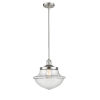 This item: Franklin Restoration Brushed Satin Nickel 12-Inch LED Pendant with Clear Large Oxford Shade