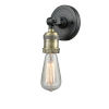 This item: Bare Bulb Black Antique Brass One-Light ADA Wall Sconce