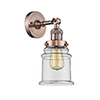 This item: Canton Antique Copper One-Light Wall Sconce with Clear Bell Glass