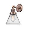 This item: Large Cone Antique Copper LED Wall Sconce with Clear Cone Glass