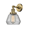 This item: Fulton Brushed Brass LED Wall Sconce with Clear Sphere Glass
