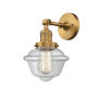 This item: Small Oxford Brushed Brass LED Wall Sconce with Clear Glass