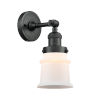 This item: Franklin Restoration Matte Black Seven-Inch LED Wall Sconce with Matte White Canton Shade