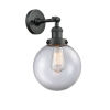 This item: Large Beacon Matte Black One-Light Wall Sconce with Clear Glass