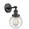 This item: Beacon Matte Black LED Wall Sconce with Seedy Glass