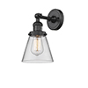 This item: Small Cone Black Six-Inch One-Light Wall Sconce with Clear Cone Glass