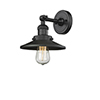 This item: Railroad Black Eight-Inch One-Light Wall Sconce with Matte Black Metal Shade
