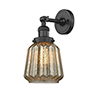 This item: Chatham Oiled Rubbed Bronze LED Duo Mount with Mercury Fluted Novelty Glass