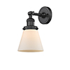 This item: Small Cone Oiled Rubbed Bronze Six-Inch LED Wall Sconce with Matte White Cased Cone Glass