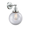 This item: Large Beacon Polished Chrome One-Light Wall Sconce with Clear Glass