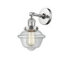This item: Small Oxford Polished Chrome LED Wall Sconce with Clear Glass
