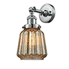 This item: Chatham Polished Nickel LED Wall Sconce with Mercury Fluted Novelty Glass
