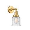 This item: Franklin Restoration Satin Gold 10-Inch One-Light Wall Sconce with Seedy Bell Shade