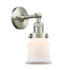 This item: Franklin Restoration Brushed Satin Nickel 11-Inch One-Light Wall Sconce with Matte White Canton Shade