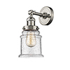 This item: Canton Brushed Satin Nickel 11-Inch LED Wall Sconce with Seedy Bell Glass