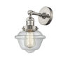 This item: Small Oxford Brushed Satin Nickel LED Wall Sconce with Clear Glass
