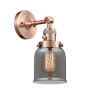 This item: Small Bell Antique Copper One-Light Wall Sconce with Smoked Glass